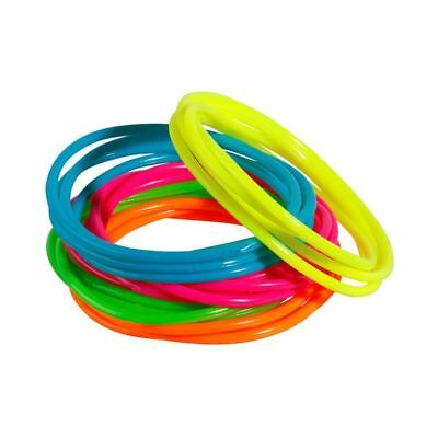 144 Jelly Bracelets Rainbow Neon Christmas Stocking Stuff Party Gifts Prizes Toy