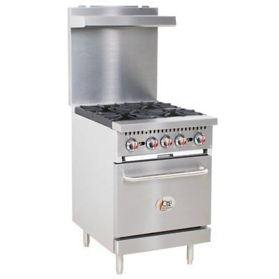 24 4 Burner Restaurant Kitchen Liquid Propane Range With Standard Oven