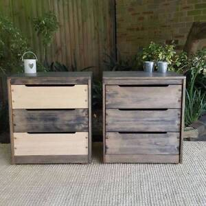 Bedside Tables Or Chests Of Drawers Upcycled Furniture Coogee Eastern Suburbs Preview
