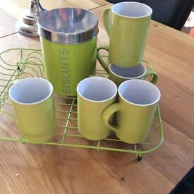 Lime green kitchen accessaries