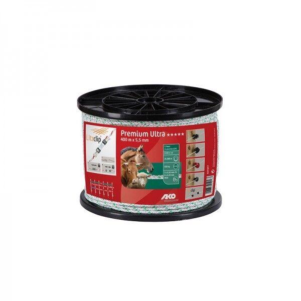 2,5 mm weiß//grün gratis Versand 400 m *AKO* Premium Ultra Weidezaunlitze