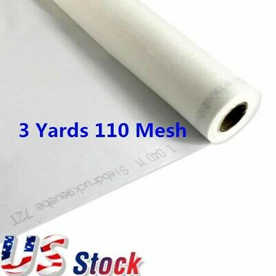 Usa - 3 Yards 110 Mesh X 63 Width Silk Screen Printing Fabric Mesh White Color