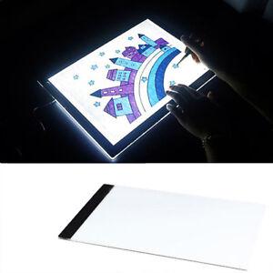 LED Tracing Light Box Board Art Tattoo A4 Drawing Pad Table Stencil Display
