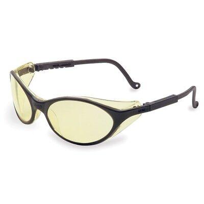 Uvex Bandit Safety Glasses With Amber Lens Black Frame