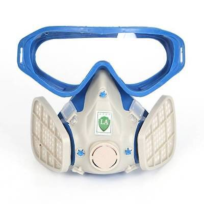 New Silicone Full Face Respirator Gas Mask Goggles Dustproof Fire Paint Chemical