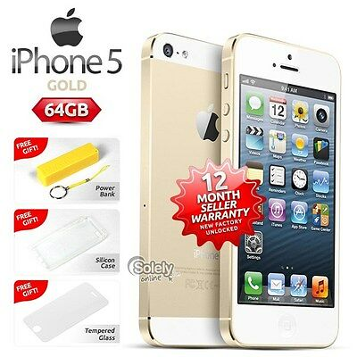 """Rare"" Factory Unlocked iPhone 5 64GB Gold Version Smartphone (Customs Design)"