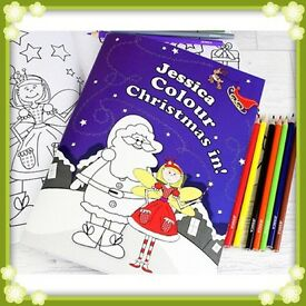 Personalised Christmas Fairy Colouring Book