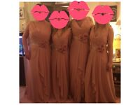 Pink/peach bridesmaid dresses excellent quality! brand new. Sizes 6, 8, 12 and 16 *never used*