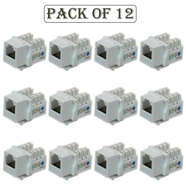 12x Cat3 Rj11  12 Keystone Jack 6p6c Telephone Phone Line