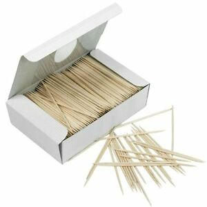 1000 Wooden Toothpicks Tooth Picks Fruit Cherry Olive Bar Cocktail Sticks Party