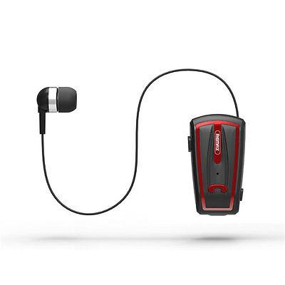 Best Collar Clip On Voice Prompt Telescopic Bluetooth Earphone Mic Headset