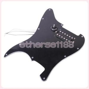 Loaded 3-Ply Scratchplate Pickguard Humbucker for Stratocaster Strat Guitar BLK