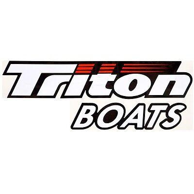 Triton Boat Logo Decal 1860644 | 12 3/8 x 4 5/8 Inch Black Red White