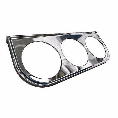 Chrome Triple Gauge Mounting Bracket  gauges sunpro bosch stewart warner VDO