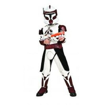 Jungen Star Wars Deluxe Clonetrooper Commander Fox Kostüm ()