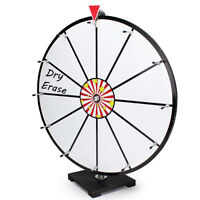 "Prize Wheel RENTAL - 24"" - with 12 Dry Erase Sections"