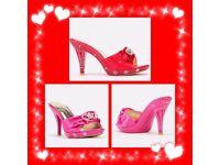 Salin women's red shoes size 4