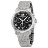 Raymond Weil Tradition Chronograph Black Dial Stainless Steel Mens Watch
