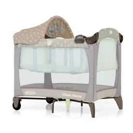 Graco Classic Electra Travelcot with baby changer VGC