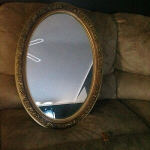 Mirror with cabinet inside