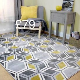 New Large Cocktail Grey / Ochre Rug
