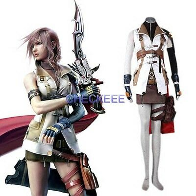 Final Fantasy XIII Lightning Halloween Cosplay Costume - Final Fantasy Halloween Costumes