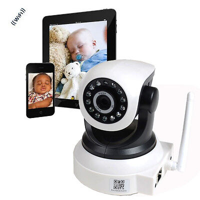 Wireless WiFi IP Baby Monitor Security Camera Audio Mic IR Night Vision Tilt cu1