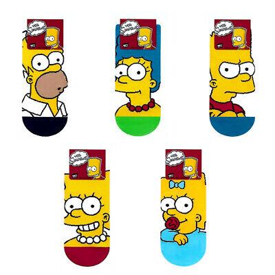 The Simpsons 5 Pairs Lovely Cartoon Socks Women Big Kids Girl MADE IN KOREA