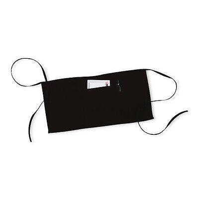 2 Pc 3 Pocket Black Waist Apron - 20w X 10l Restaurant Grade High Quality