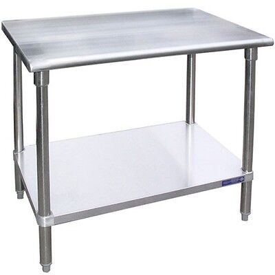 Lj Sg1496 14x96-inch Stainless Steel Work Table With Galvanized Undershelf