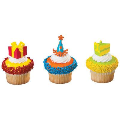 Birthday Party Gift, Hat, & Cake Cupcake Picks - 24 Count Hat Cupcake Picks