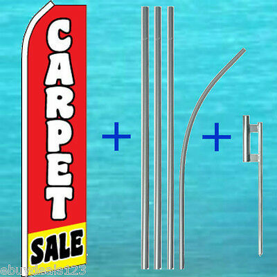 Carpet Sale Flutter Flag 15 Tall Pole Mount Kit Swooper Feather Banner Sign