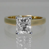 Bright diamond engagement ring 1.35CT Bague de fiançailles