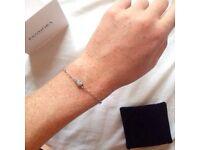 Silver Pandora heart bracelet