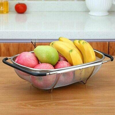 Cestello Scolapasta Lava Verdure Frutta Estensibile in Acciaio da per Lavello
