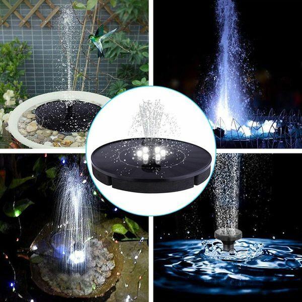 3W Solarpumpe Springbrunnen Teichpumpe Brunnen Fontäne Gartenteich Wasserspiel
