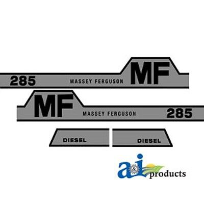 Tractor Decal Set To Fit Massey Ferguson 285
