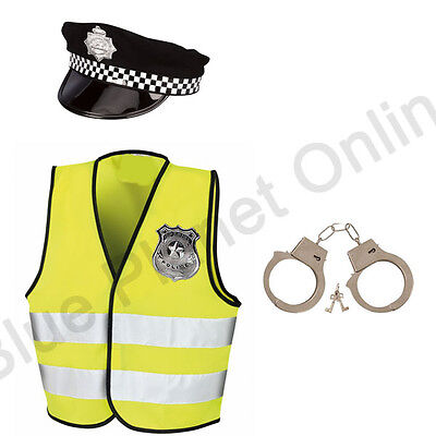 4-12 CHILDRENS KIDS BOYS POLICEMAN POLICE COP FANCY DRESS COSTUME OUTFIT  ()