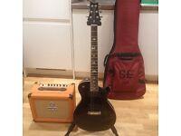 PRS SE Tremonti Black Electric Guitar and Orange Crush 20L