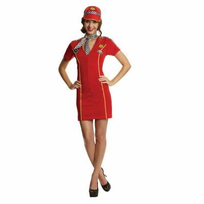 Womens Racing Girl Grand Prix Sexy Overalls Fancy Dress Ladies Outfit Size - Racing Girl Kostüm