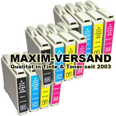 Mfc-3360c Farbe (12 XL Farb-Patronen Set für Brother LC1000 MFC120C MFC3360C MFC440CN MFC465CN)