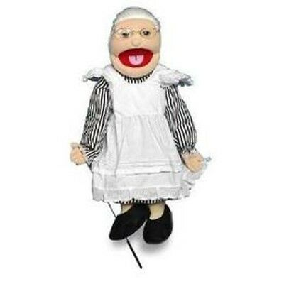"28"" White Grandmother Full Body Puppet GS4201 New By Sunny"