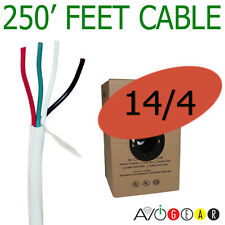 250 Feet 14/4, 14 Gauge 4 Conductor Premium Speaker Wire Cable FT4 UL AWG CL3