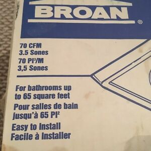 Broan One Bulb Heater/Fan Peterborough Peterborough Area image 2