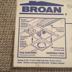 Broan One Bulb Heater/Fan Peterborough Peterborough Area image 3