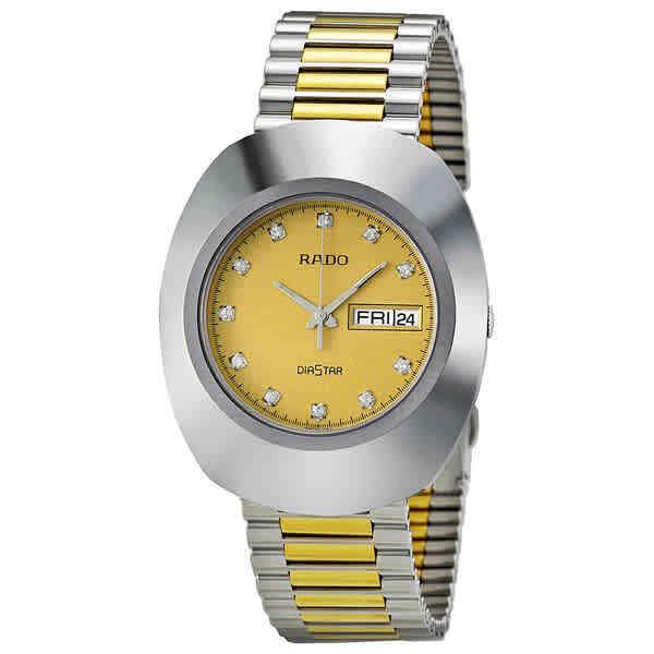 Rado The Original Quartz Gold Dial Men Watch R12391633