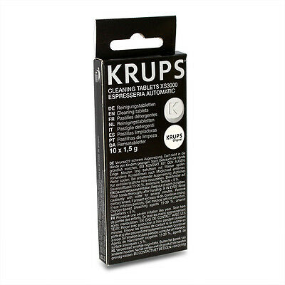 Genuine Cleaning Tablets Pack of 10 - XS3000 For Krups Coffee Makers Espresseria