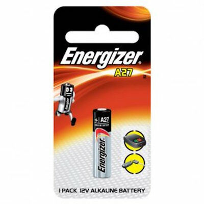 Energiser A27 Mini Alkaline -Car Alarm & Garage Remote Control Battery-Free Post