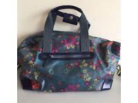 Floral day bag/ doctors bag with shoulder strap