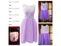 Lavender tulle lace dress